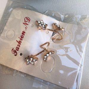 Jewelry - Star & moon earring, stud.